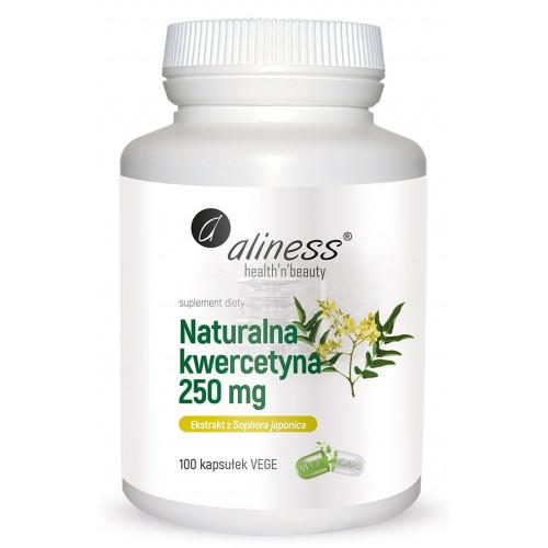 Aliness - Naturalna kwercetyna 250 mg - 100 vege kapsułek