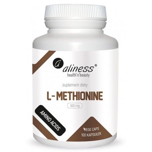 Aliness - L-Methionine 500 mg - 100 vege kapsułek