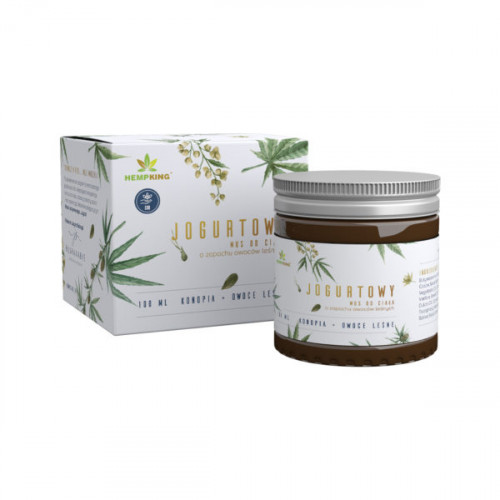 HempKing - Jogurtowy mus konopny z CBD do ciała o zapachu owoców leśnych - 100 ml