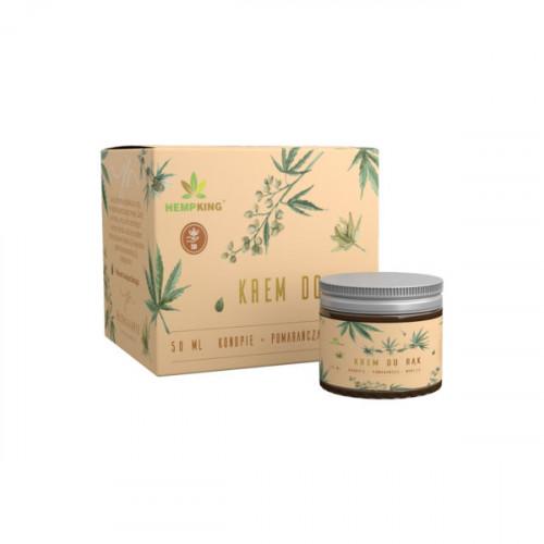 HempKing - Konopny krem do rąk z CBD o zapachu wanilii i pomarańczy - 50 ml