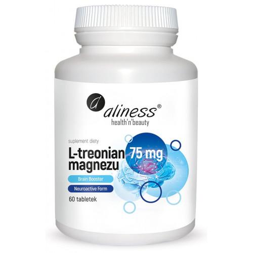 Aliness - L-treonian magnezu Brain Booster 75 mg - 60 tabletek