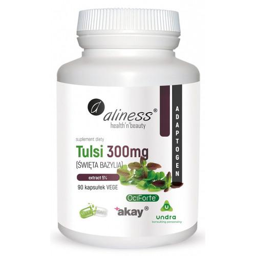 Aliness - Tulsi (Święta Bazylia) extract 5% 300mg - 90 Vege kapsułek