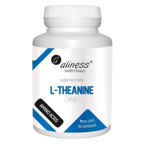 Aliness - L-Theanine 200 mg - 100 kapsułek