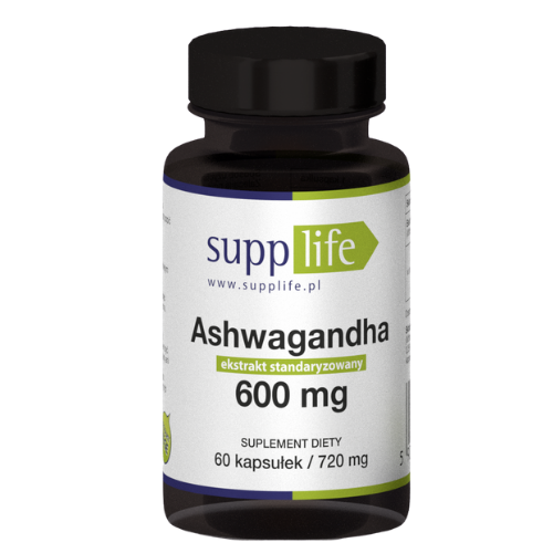 Supplife - Ashwagandha 600 mg - 60 kapsułek