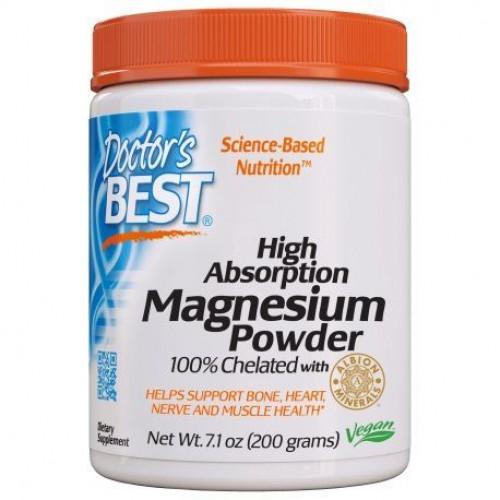 Doctor's Best - High Absorption Magnesium Powder - 200 g