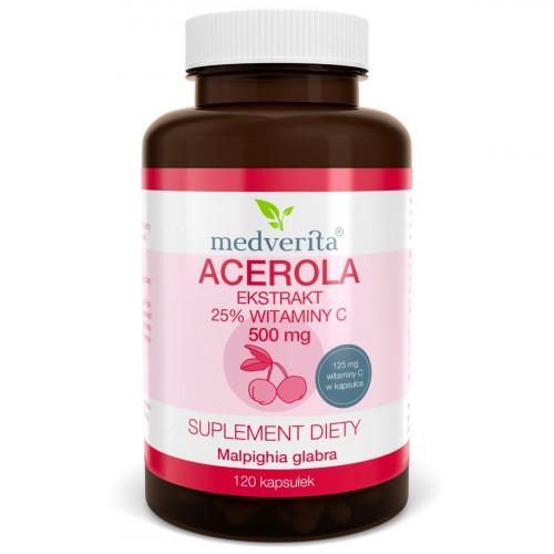 Medverita - Acerola 500 mg - 120 kapsułek