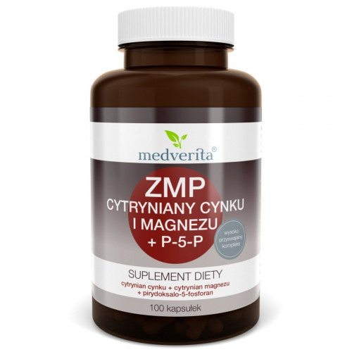 Medverita - ZMA Cynk + Magnez + P-5-P - 100 kapsułek