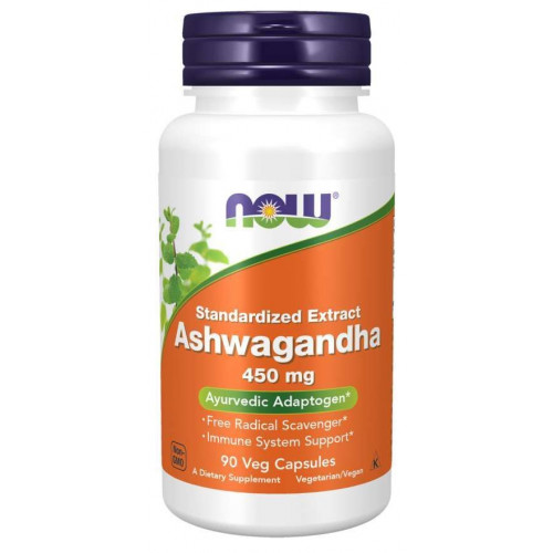 NOW - Ashwagandha 450 mg - 90 kapsułek