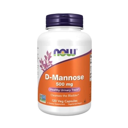 NOW - D-Mannose 500 mg - 120 kapsułek