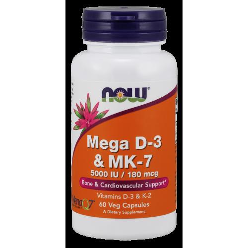 NOW - Mega D-3 & MK-7 - 60 kapsułek