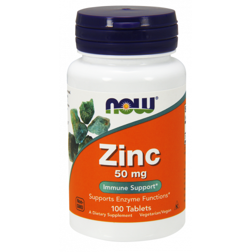 NOW - Zinc 50mg - 100 tabletek