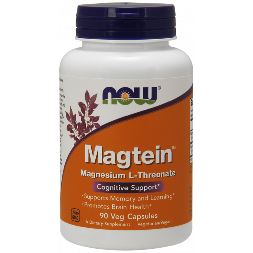 NOW - Magtein Magnesium L-Threonate - 90 kapsułek