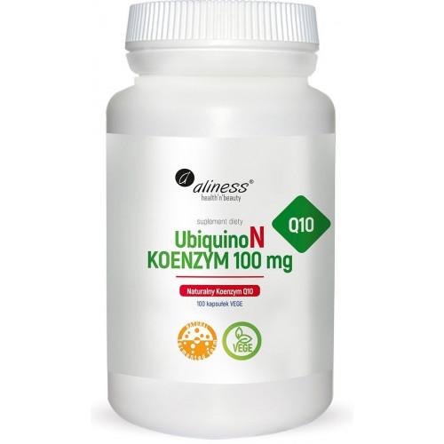 Aliness - UbiquinoN Naturalny KOENZYM Q10 100 mg - 100 kapsułek