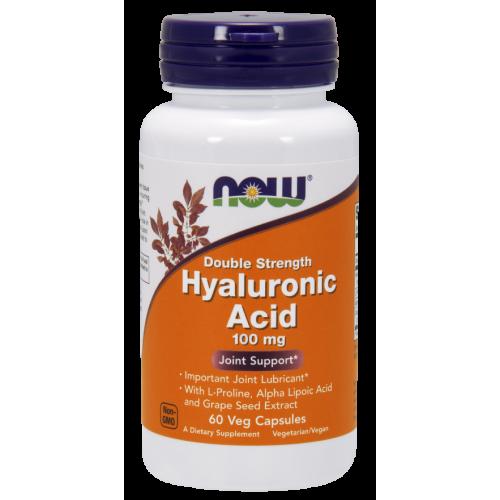 NOW - Hyaluronic Acid Double Strength 100 mg  - 60 kapsułek