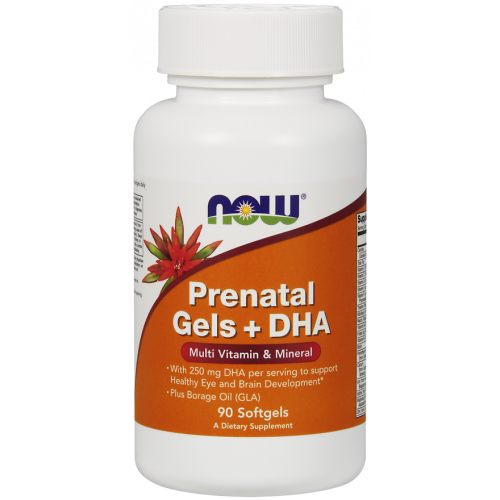 NOW - Prenatal Gels + DHA - 90 kapsułek