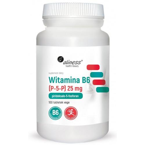 Aliness - Witamina B6 (P-5-P) 25 mg - 100 tabletek