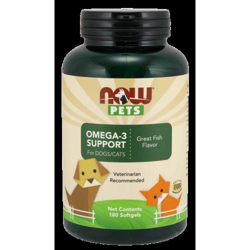 NOW Pets - Omega-3 Support - 180 kapsułek
