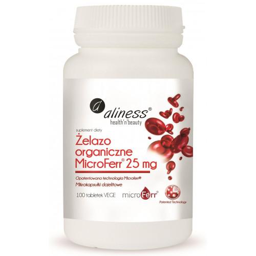 Aliness - Żelazo Organiczne MicroFerr® 25 mg - 100 tabletek