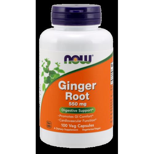 NOW - Ginger Root 550 mg - 100 kapsułek