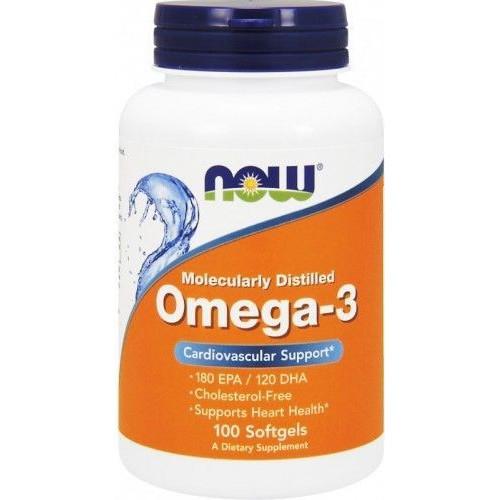 NOW - Omega-3 - 100 kapsułek