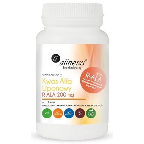 Aliness - Kwas Alfa Liponowy R-ALA 200 mg - 60 tabletek