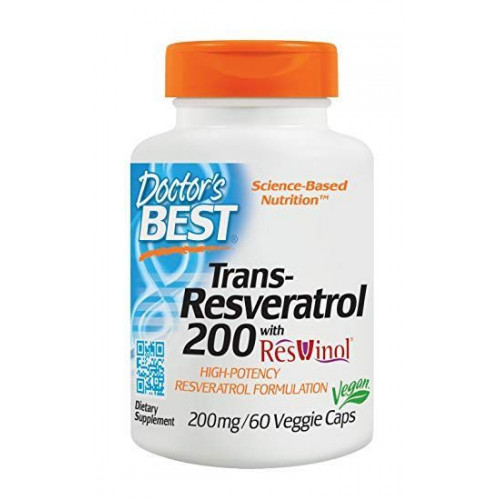 Doctor's Best - Trans-Resveratrol 200 mg - 60 kapsułek