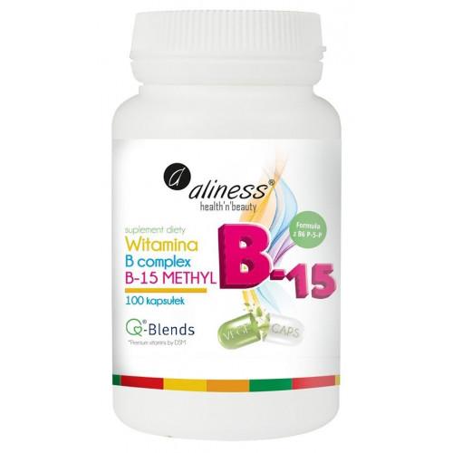 Aliness - Witamina B Complex B-15 Methyl - 100 kapsułek