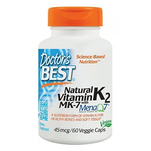 Doctor's Best - Natural Vitamin K2 MK7 with MenaQ7 45mcg - 60 kapsułek