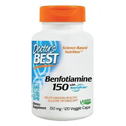 Doctor's Best - Benfotiamine 150 mg - 120 kapsułek