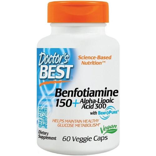 Doctor's Best - Benfotiamine 150 + Alpha-Lipoic Acid 300 - 60 kapsułek
