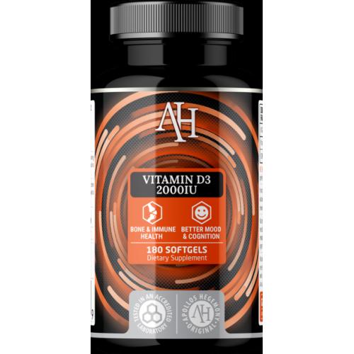 Apollo's Hegemony - Vitamin D3 2000IU - 180 kapsułek