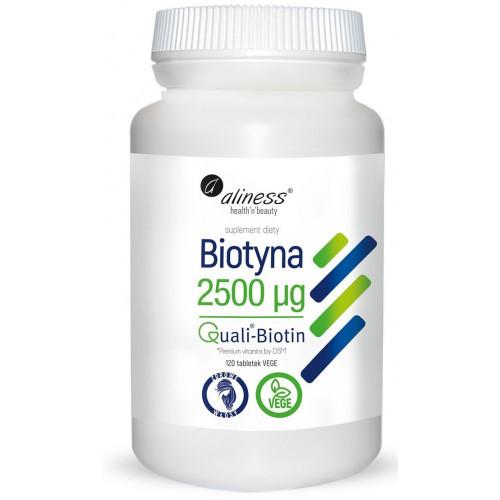Aliness - Biotyna 2500 mcg QualiBiotin® - 120 tabletek