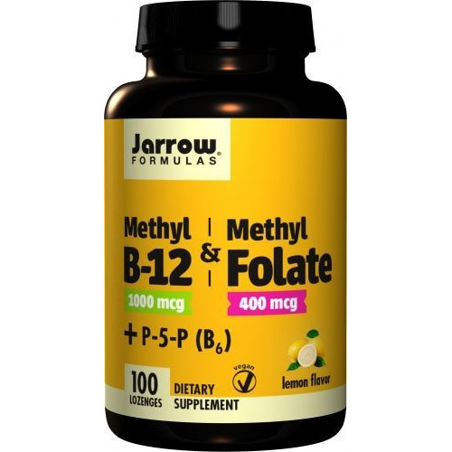 Jarrow - Methyl B-12 & Methyl Folate - 100 tabletek
