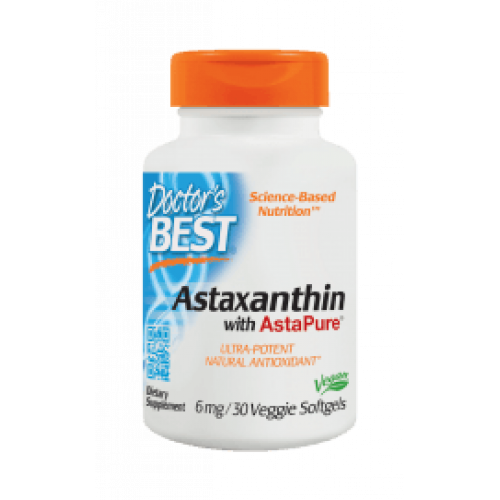 Doctor's Best - Astaxanthin with AstaPure 6 mg - 30 kapsułek