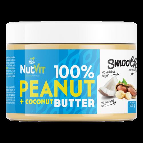 NutVit -  100% Peanut + Coconut Butter - 500 g