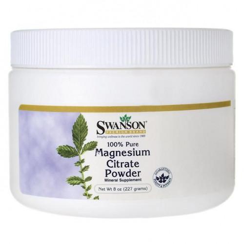 Swanson - 100% PURE Magnesium Citrate Powder - 244 g