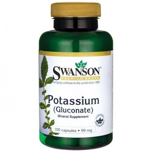 Swanson - Potassium (Gluconate) 99 mg - 100 kapsułek