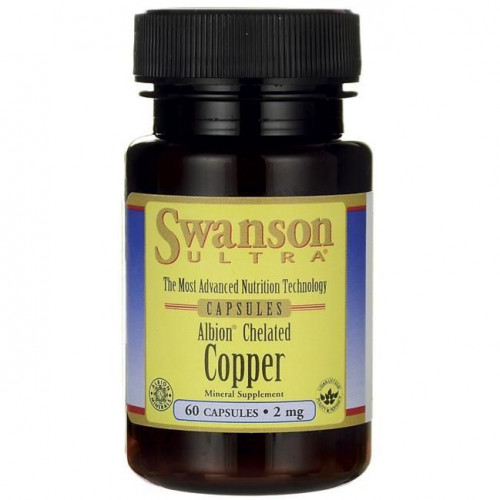 Swanson - Albion Chelated Copper - 60 kapsułek