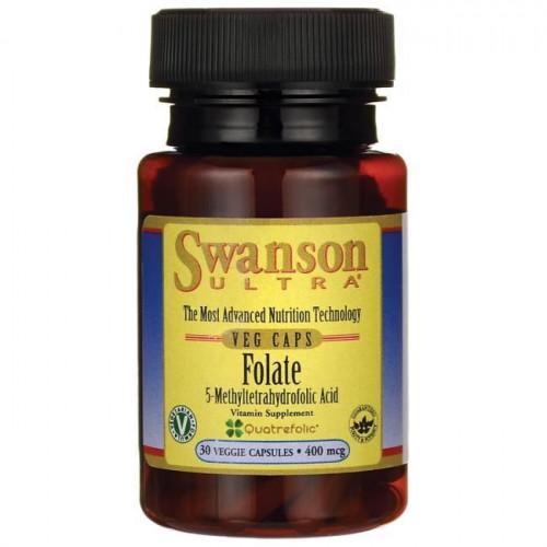 Swanson - Folate (5-MTHF) 400 mcg - 30 kapsułek