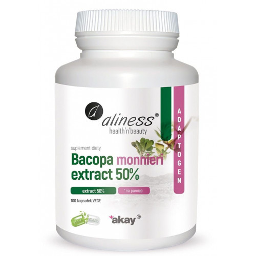 Aliness - Bacopa monnieri extract 50% 500 mg - 100 kapsułek