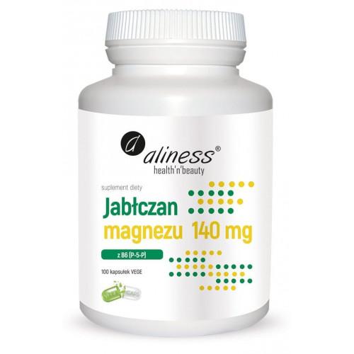 Aliness - Jabłczan magnezu 140 mg z B6 (P-5-P) - 100 kapsułek