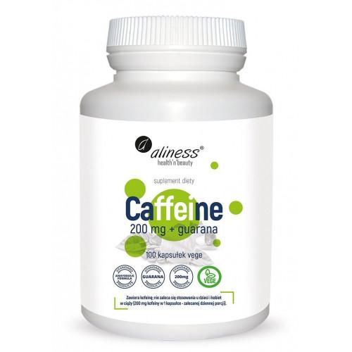 Aliness - Caffeine 200 mg + guarana - 100 kapsułek