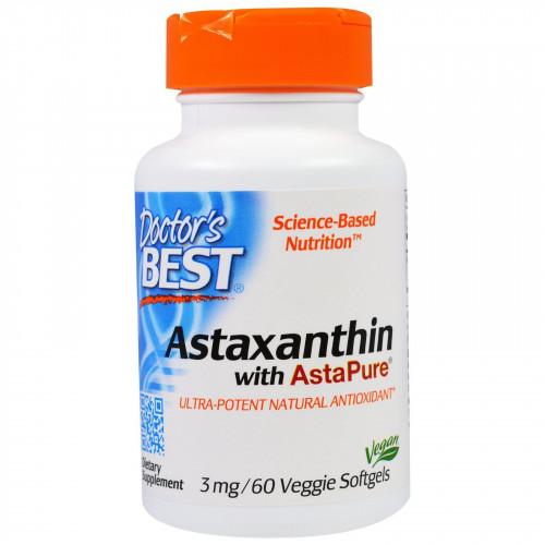Doctor's Best - Astaxanthin with AstaPure 3mg - 60 kapsułek