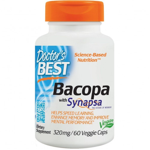 Doctor's Best - Bacopa with Synapsa 320 mg - 60 kapsułek