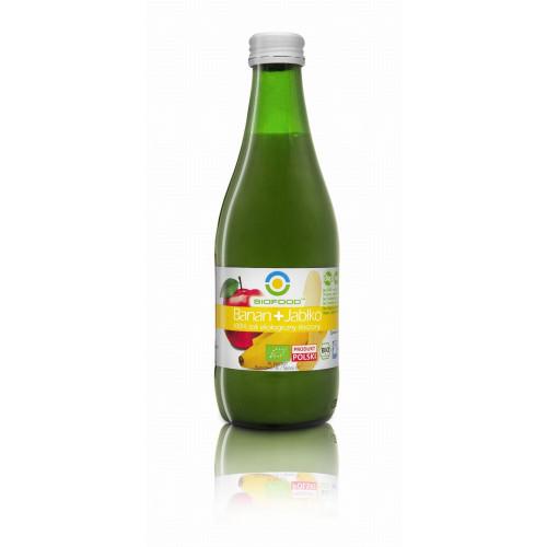 BIO FOOD - Ekologiczny sok bananowo-jabłkowy - 300 ml