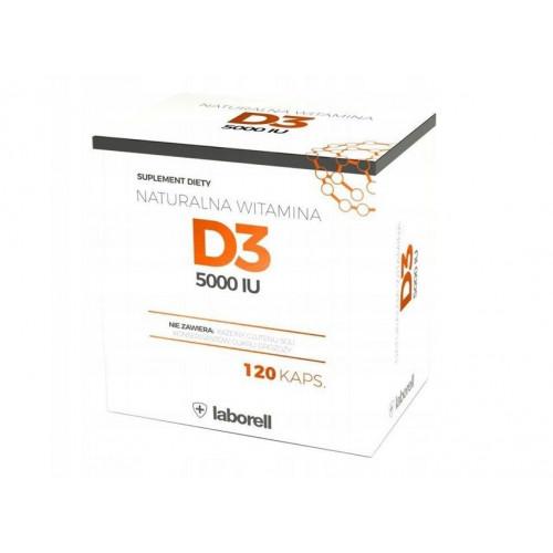 Laborell - Naturalna witamina D3 2000 IU - 120 kapsułek