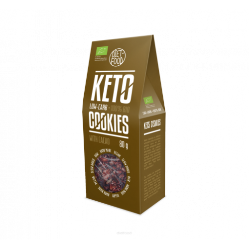 Ciasteczka keto z kakao BIO - 80 g