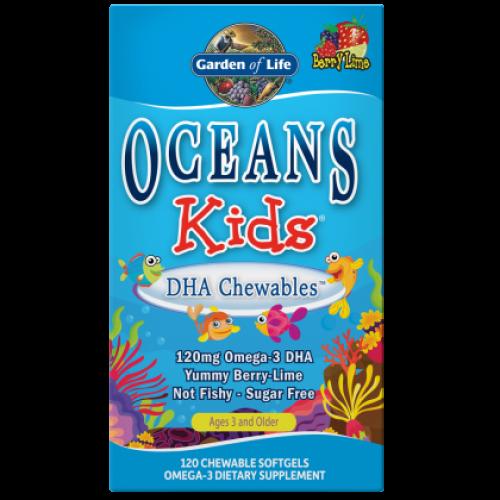 Garden of Life - Oceans Kids DHA Chewables - 120 kapsułek