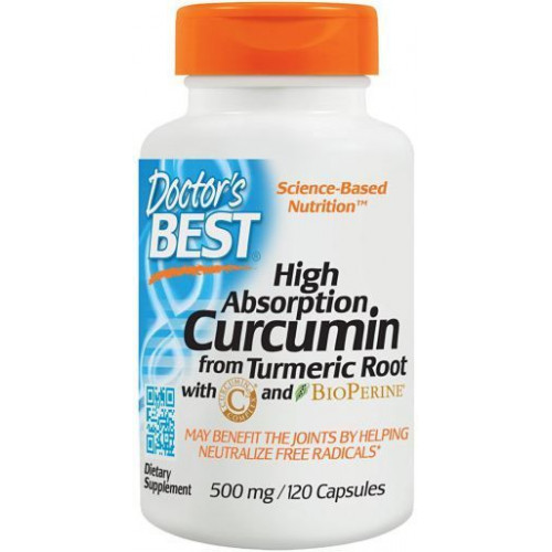 Doctor's Best - High Absorption Curcumin 500 mg - 120 kapsułek