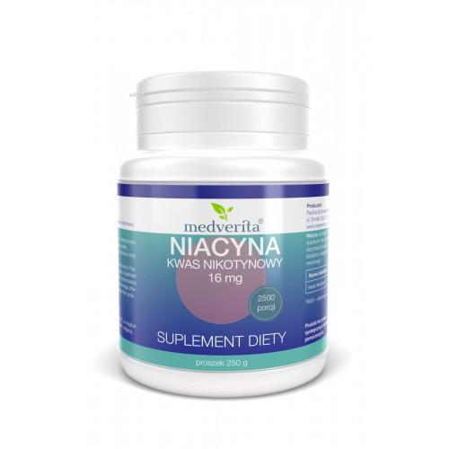 Medverita - Niacyna 16 mg kwas nikotynowy - 250 g
